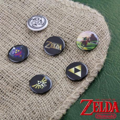 Badges Zelda - Lot de 6