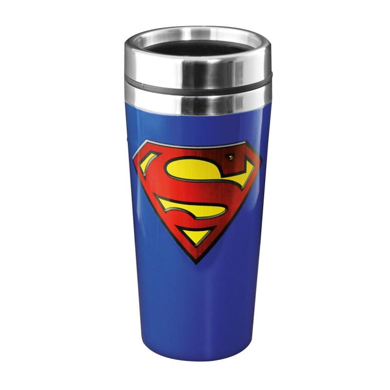 Un mug de voyage superman pour des boissons au top sur - Signe de superman ...