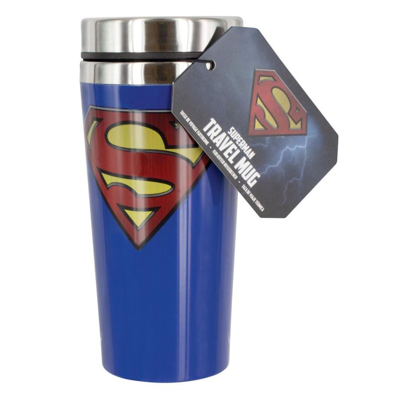 un mug de voyage superman pour des boissons au top sur. Black Bedroom Furniture Sets. Home Design Ideas