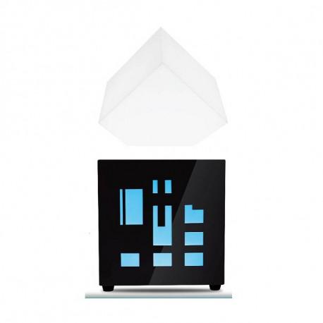 lampe haut parleur bluetooth en l vitation qui flotte dans. Black Bedroom Furniture Sets. Home Design Ideas