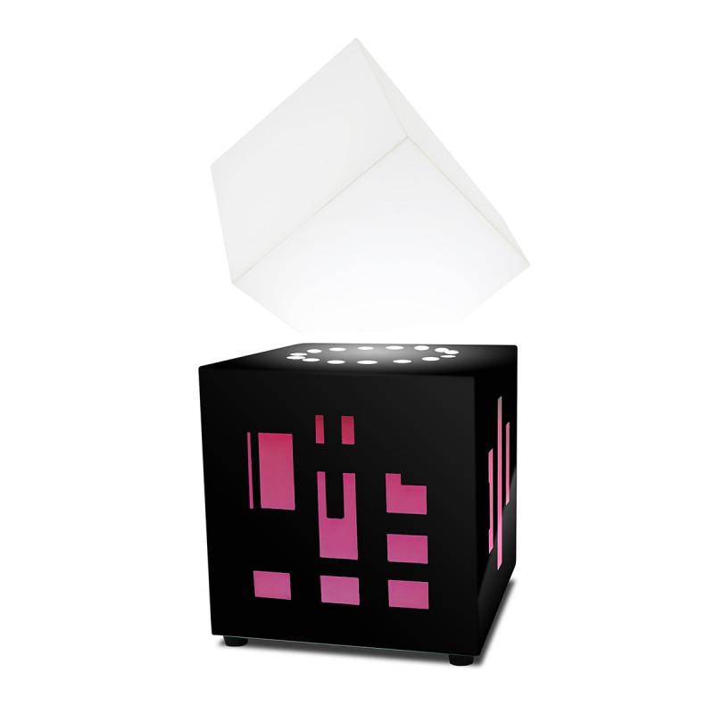 lampe haut parleur bluetooth en l vitation qui flotte dans les airs sur logeekdesign. Black Bedroom Furniture Sets. Home Design Ideas