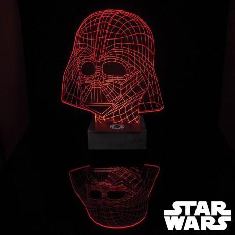 Lampe acrylique avec effet 3D du masque de Dark Vador