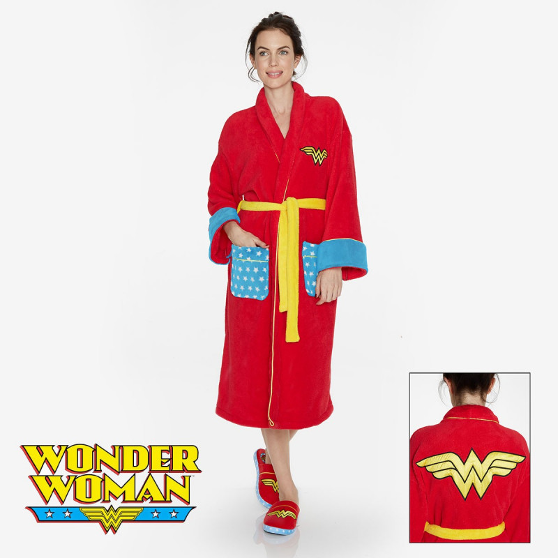 Woman Super Sur Pour Bain Wonder Maman Peignoir De Logeekdesign 8nvm0Nw