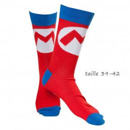 Chaussettes Logo Mario Nintendo