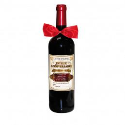 Bouteille de Vin Cuvée Spéciale Joyeux Anniversaire