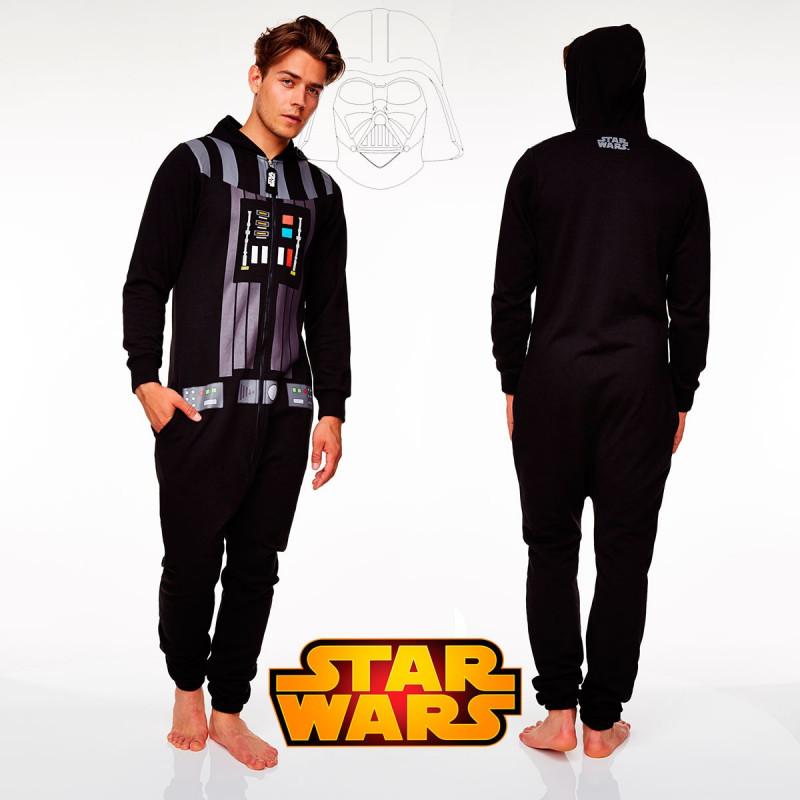 Pyjama Dark Vador Star Wars Adulte Avec Poches Et Capuche Sur