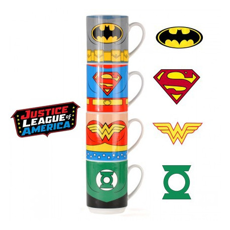 Les tasses empilables Justice League
