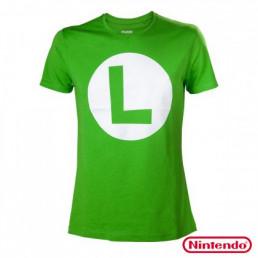T-Shirt Luigi Nintendo Logo L