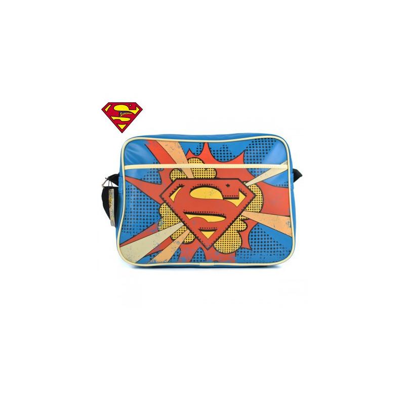 Superman sur originale rétro et Sacoche bandoulière Logeekdesign XIBxqzgU