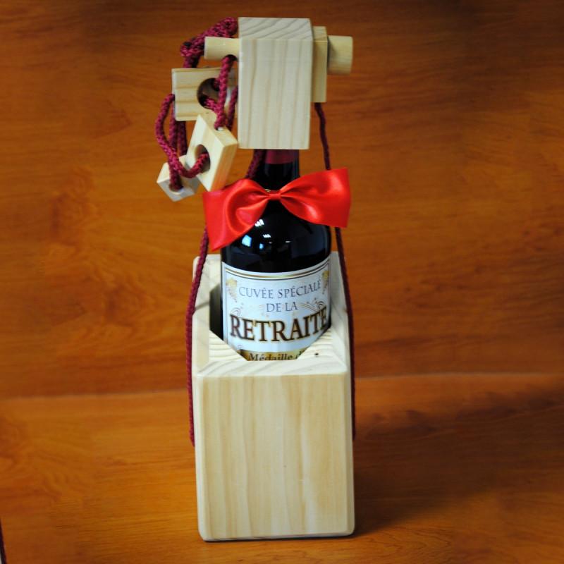casse t te bouteille de vin en bois le cachot sur logeekdesign. Black Bedroom Furniture Sets. Home Design Ideas