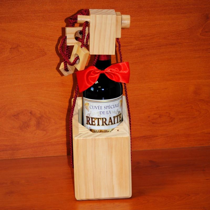 casse t te bouteille de vin en bois le cachot sur. Black Bedroom Furniture Sets. Home Design Ideas