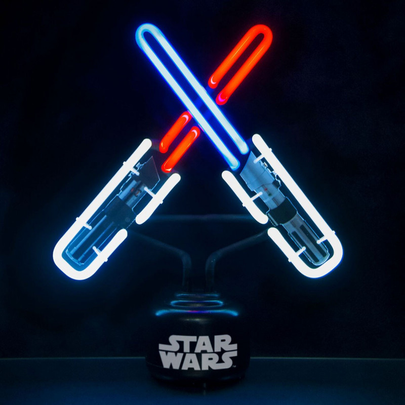 lampe star wars l 39 effigie de sabres laser sur logeekdesign. Black Bedroom Furniture Sets. Home Design Ideas