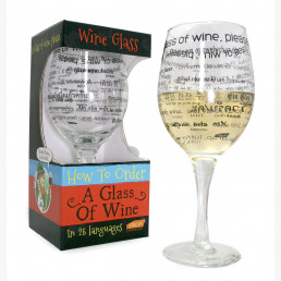 Grand Verre à Vin Multilingue