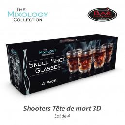 Shooters Tête de Mort 3D - Lot de 4