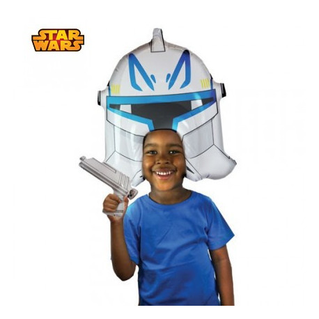 Perruque Gonflable Star Wars - Clone Trooper