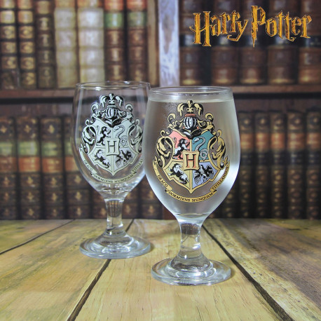 Photo du verre à pied thermoréactif Harry Potter