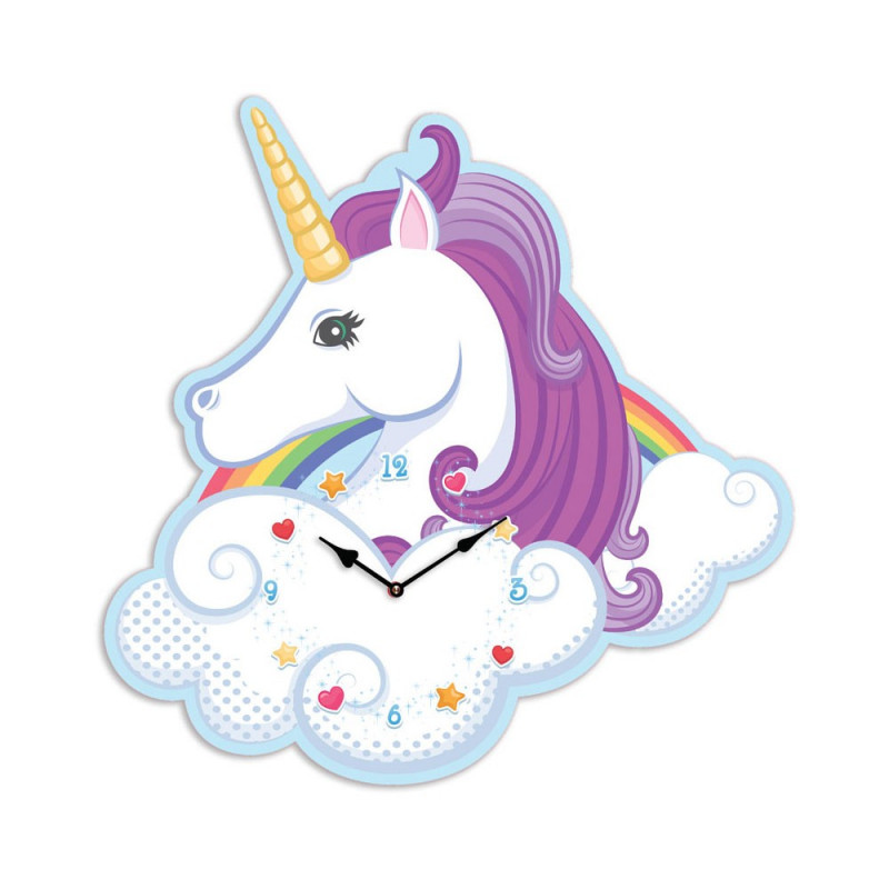 horloge licorne originale pour d corer la maison sur logeekdesign. Black Bedroom Furniture Sets. Home Design Ideas