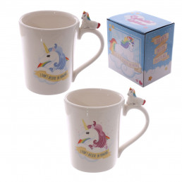 Tasse avec Anse Licorne - I don't Believe in Humans