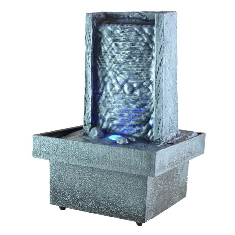 fontaine d int rieur zen avec clairage par led multicolore sur logeekdesign. Black Bedroom Furniture Sets. Home Design Ideas