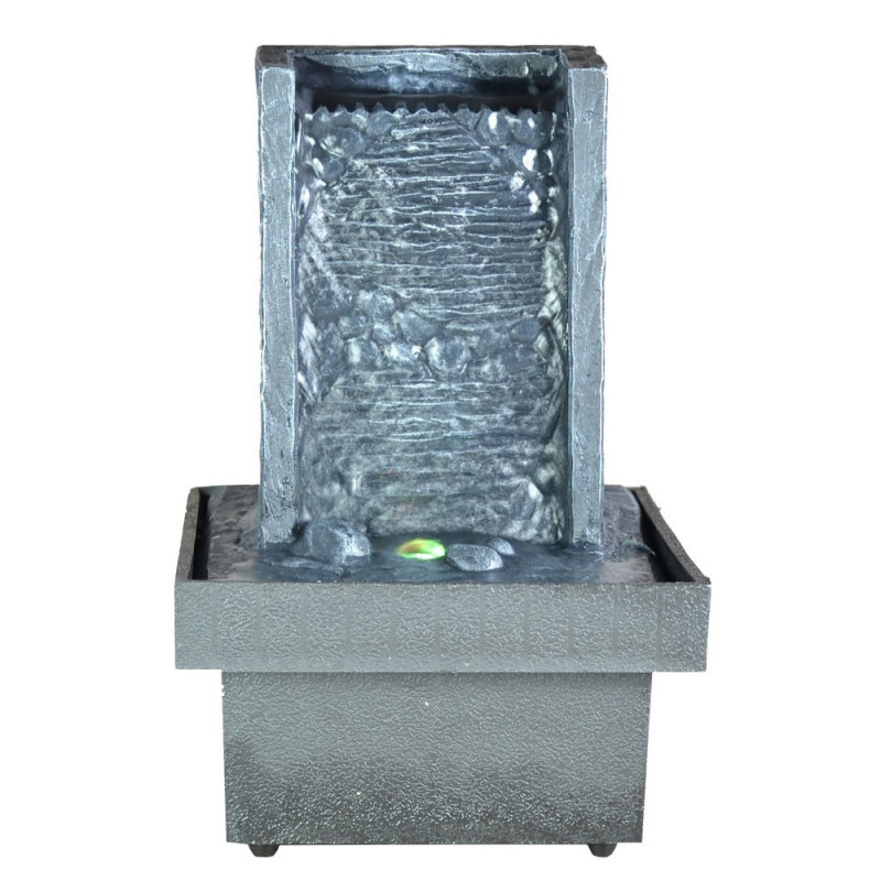 Fontaine d int rieur zen avec clairage par led for Fontaine d interieur design zen