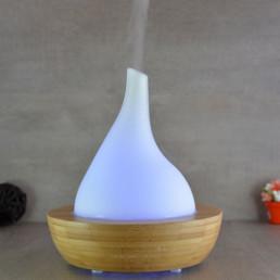 Diffuseur d'Arôme Ultrasonique Volcan - Bambou et Verre