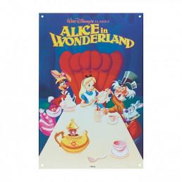 Grande Plaque Métallique Alice au Pays des Merveilles