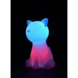 Lampe Veilleuse Chat Multicolore