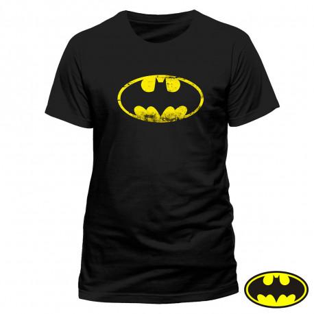 T-Shirt Batman Logo Effet Vintage