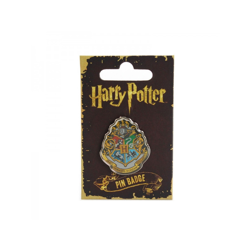 Badge harry potter l effigie du blason de l cole poudlard sur logeekdesign - Harry potter blason ...