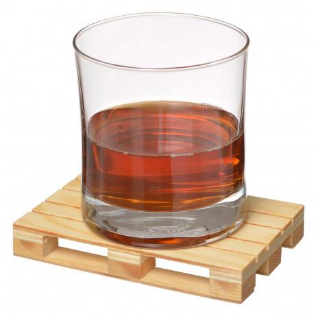 4 sous verres originaux en forme de mini palettes en bois recycl sur logeekdesign. Black Bedroom Furniture Sets. Home Design Ideas