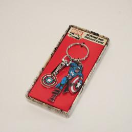 Porte-Clés Captain America Marvel avec Jeton de Course