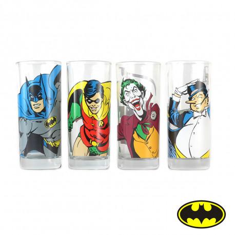 Set de 4 Verres Batman Personnages