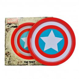 Plateau Métallique Captain America Marvel Logo