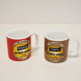 Tasses à Expresso Mamie & Papy