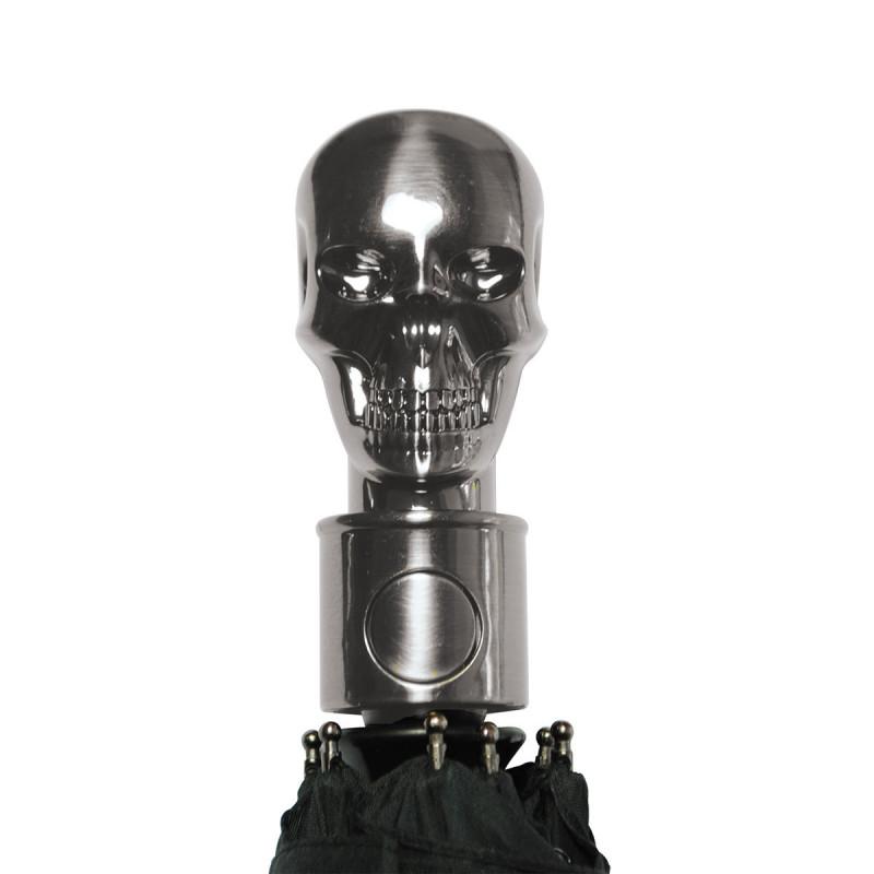 parapluie original avec motif t te de mort phosphorescente sur logeekdesign. Black Bedroom Furniture Sets. Home Design Ideas