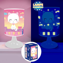 Lampe de Chevet Chat Phosphorescente