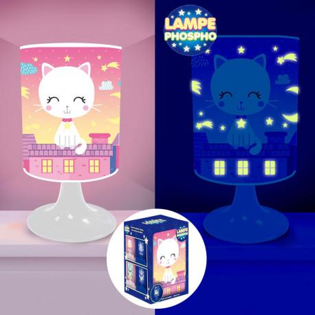 Lampe de Chevet Chat Phosphorescente