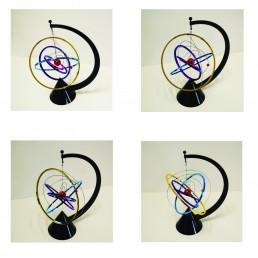 Mobile Cinétique Orbite Multicolore