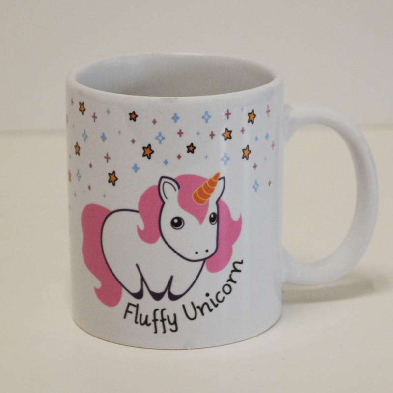 mug licorne fluffy unicorn en c ramique pour boire le caf sur logeekdesign. Black Bedroom Furniture Sets. Home Design Ideas