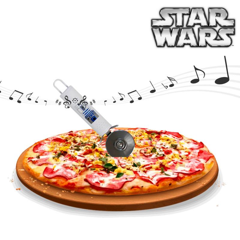 coupe pizza sonore r2d2 cadeau star wars sur logeekdesign. Black Bedroom Furniture Sets. Home Design Ideas
