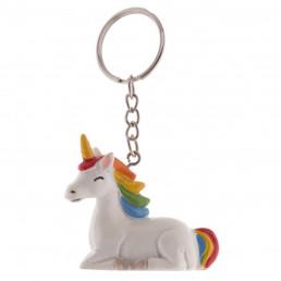 Porte-clés Licorne Arc-en-Ciel 3D