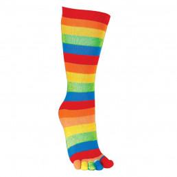 Chaussettes à Orteils Rayées Multicolores