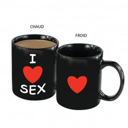 Mug Thermoréactif I Love Sex