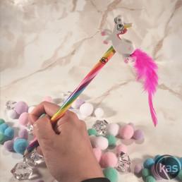 Crayon Licorne Arc-en-Ciel avec Figurine