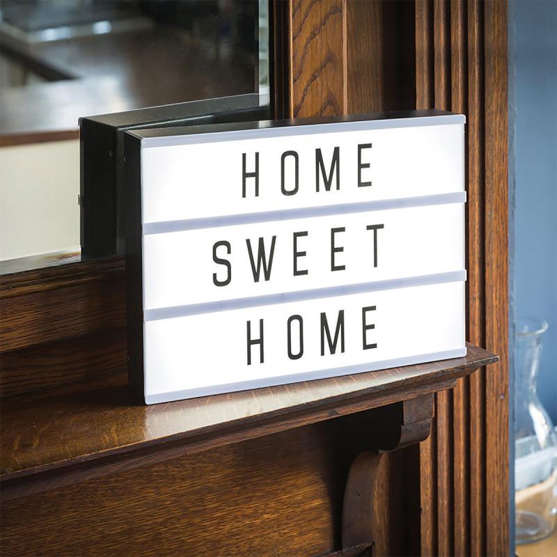 tableau lumineux pour message personnalis avec lettres et emoji sur logeekdesign. Black Bedroom Furniture Sets. Home Design Ideas
