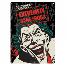 Petite Plaque Métallique Joker - Extremely Danger