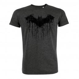 T-Shirt Batman Chauve-Souris Gris Chiné