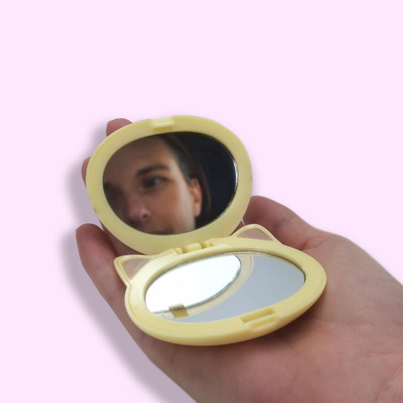 Miroir maquillage en forme de chat kawaii de la marque oh for Miroir des chats