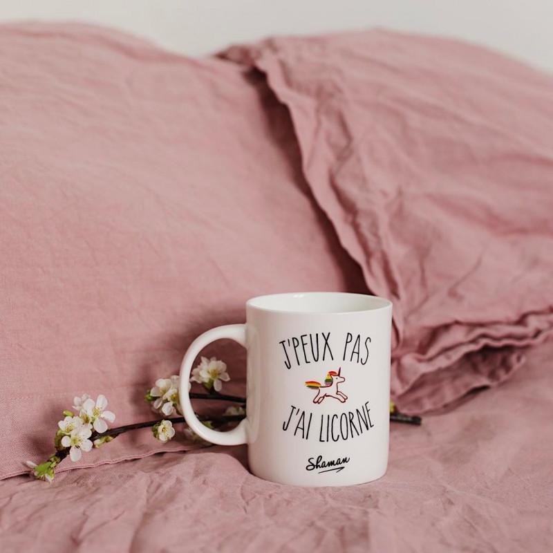 mug licorne original avec arc en ciel et inscription j peux pas j ai licorne sur logeekdesign. Black Bedroom Furniture Sets. Home Design Ideas