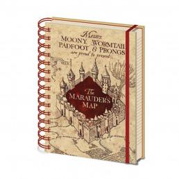 Carnet à Spirales Harry Potter Carte du Maraudeur
